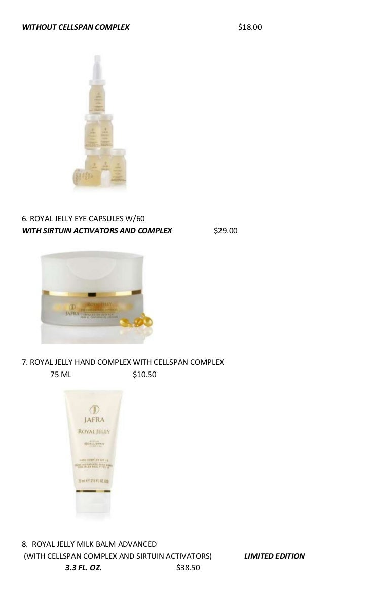 December 2011 Jafra Specials Set Advance Dynamic Balancing Ampamp 2 Vials Royal Jelly Concentrate Lift W 7 3