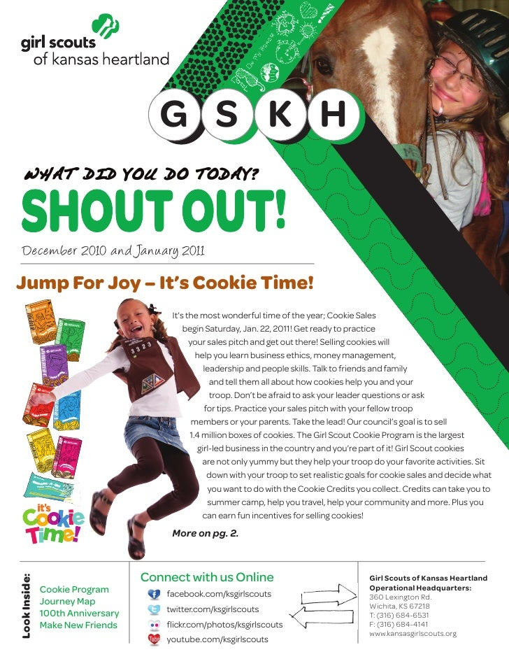 G S K H   December 2010 and January 2011Jump For Joy – It's Cookie Time!                                        It's the m...