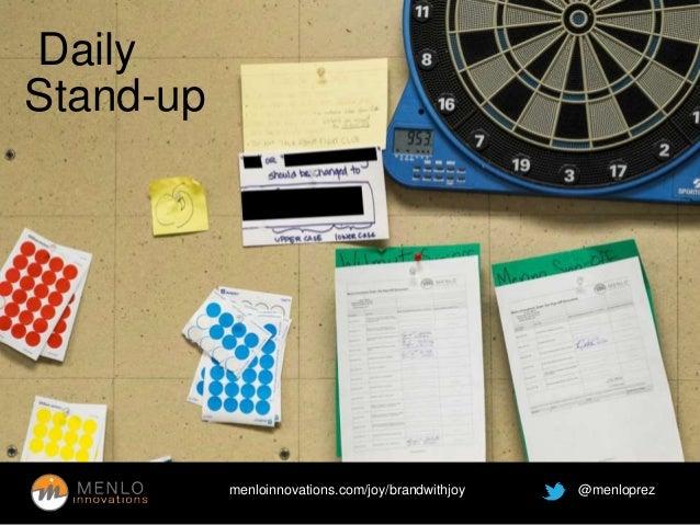 menloinnovations.com/joy/brandwithjoy @menloprez  Daily  Stand-up
