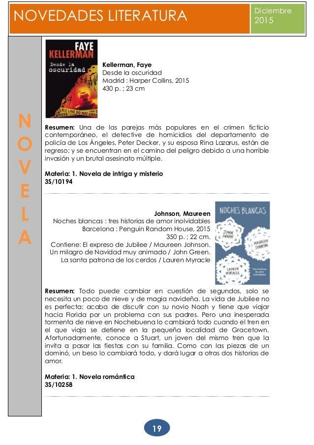 Boletín de Novedades Literarias da Biblioteca Provincial da Corunha