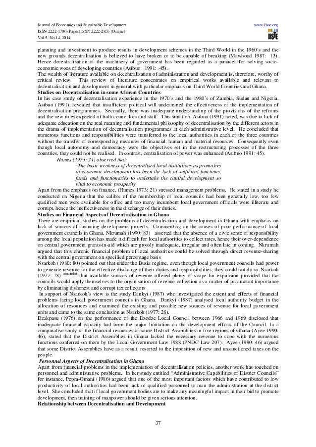 decentralization and development essay Decentralization is a question  decentralization: good or bad essay  management at all levels the greater the potential for effective and equitable development.
