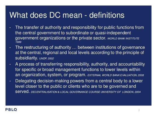 Decentralisation in NL in a glimpse Slide 2