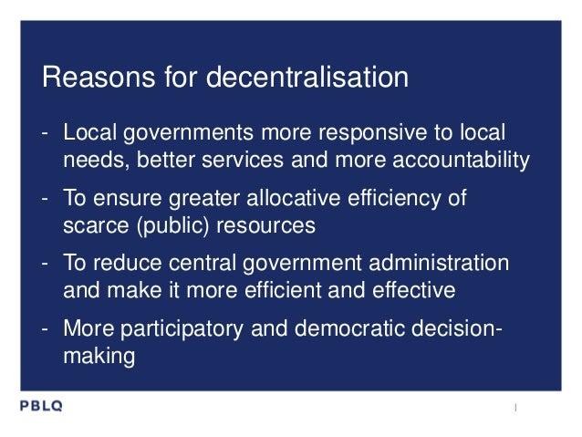 Decentralisation in NL in a glimpse Slide 3