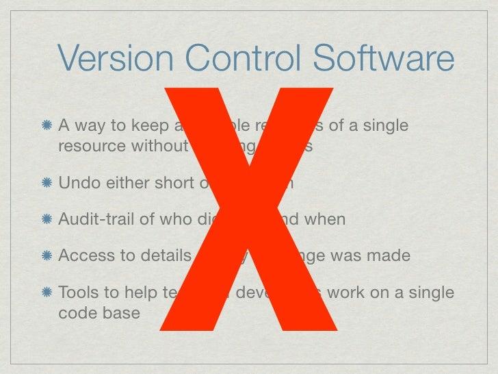 De-centralised Version Control with Bazaar Slide 2