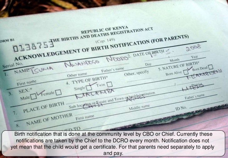 Decentralization and computerization of ubr in kwale kenya 2011 birth notification yelopaper Choice Image