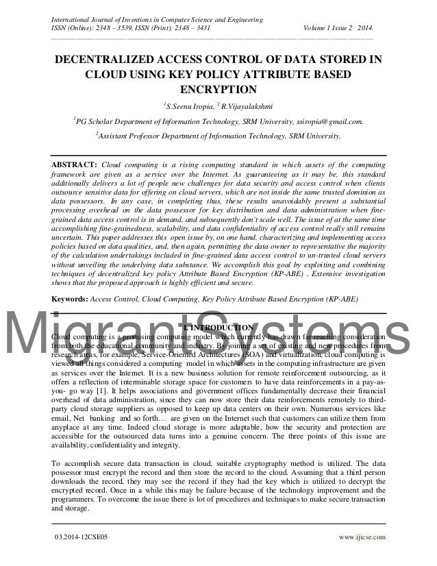 MigrantSystems International Journal of Inventions in Computer Science and Engineering ISSN (Online): 2348 – 3539, ISSN (P...