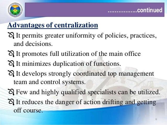 advantages of decentralised planning