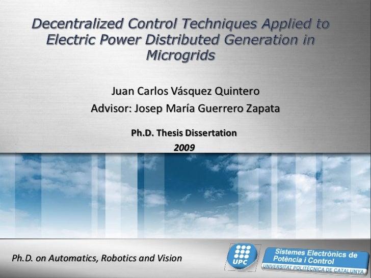 Juan Carlos Vásquez Quintero                  Advisor: Josep María Guerrero Zapata                            Ph.D. Thesis...