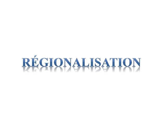 DECENTRALISATION Définition • La décentralisation consiste en un transfert d'autorité ou en un fractionnement de l'autorit...