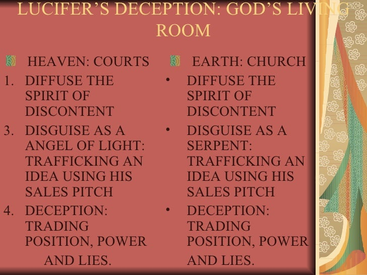 Deception from within