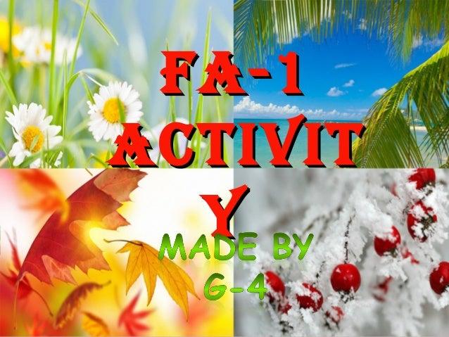FA-1FA-1 ACTIVITACTIVIT YY