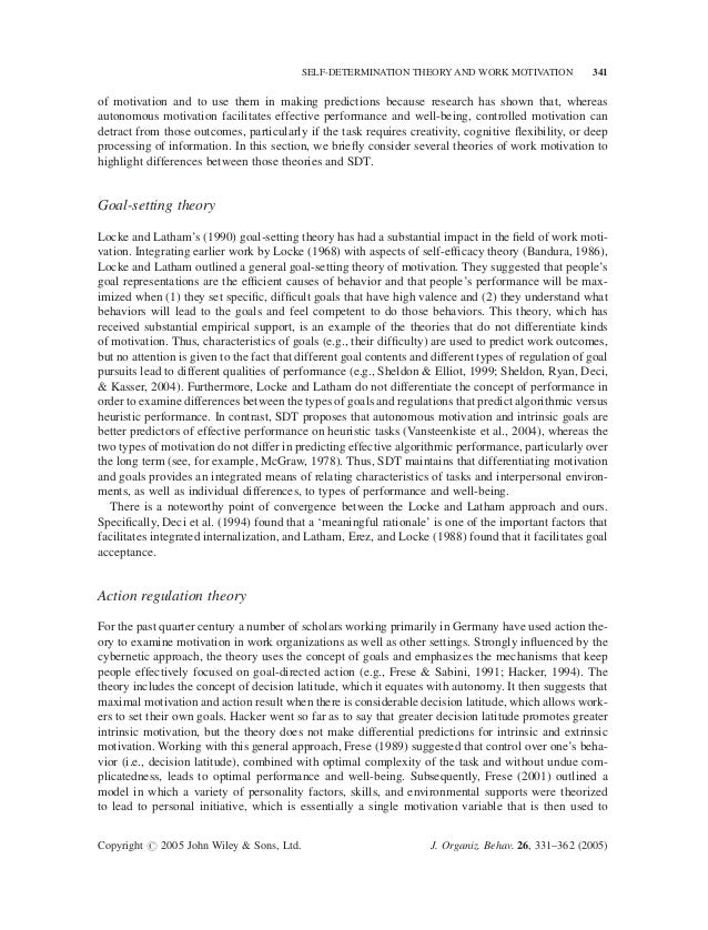 essay on self determination theory Self- determination luz marks psyc3520 - intro to social psychology social psychological theory capella university january 2014 abstract in this paper i.