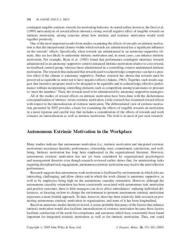 self determination theory motivation pdf