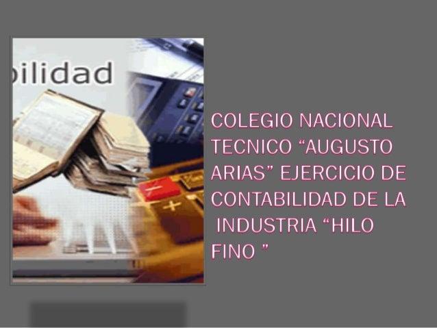 Materia prima Directa      Inventario inicial de materia prima directa             47.820 +    Compras de materia prima di...
