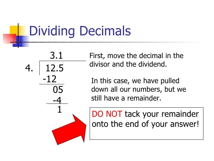 Number Names Worksheets : long division with decimal remainders ...