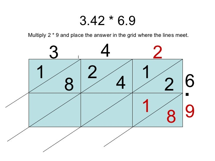 Lattice Multiplication 2 digit by 1 digit - 10 pages ...