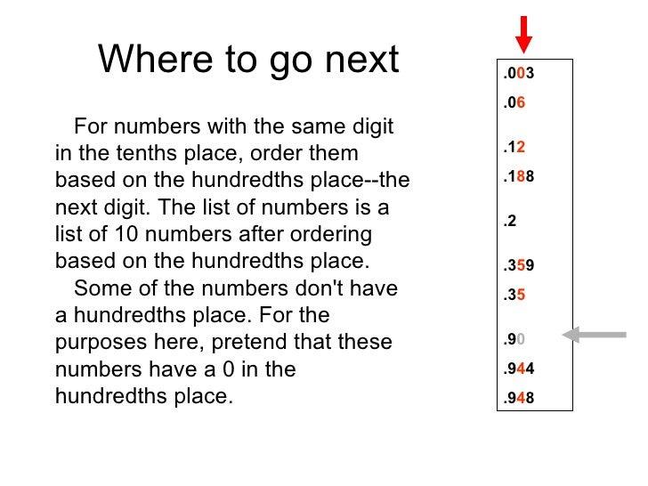 Decimal Number Order