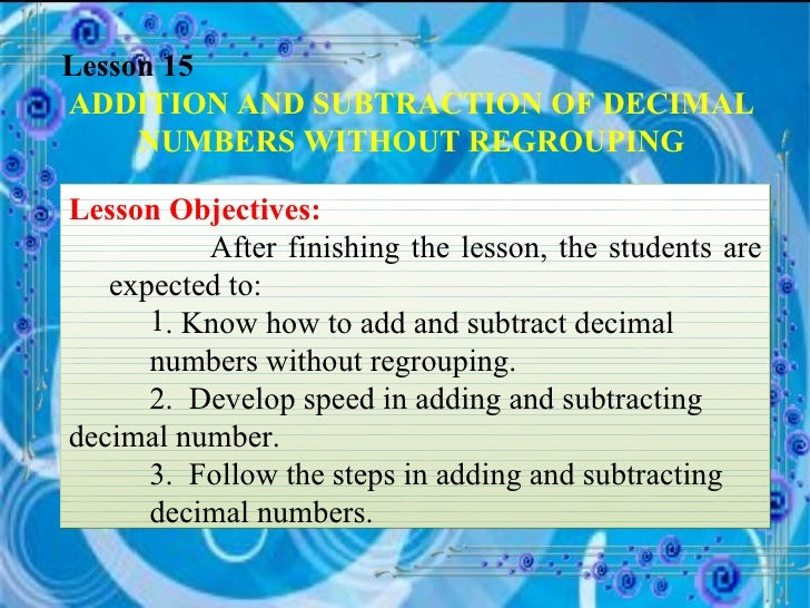 Common Worksheets » Subtraction Of Decimals With Regrouping ...