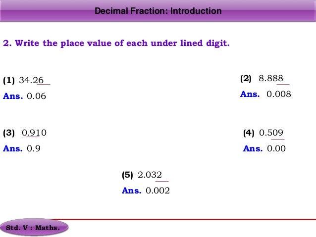 DecimalsFraction