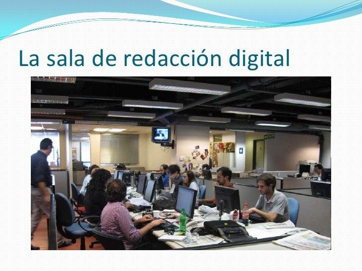La sala de redacción digital<br />