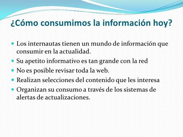 ¿Cómo consumimos la información hoy?<br />Los internautas tienen un mundo de información que consumir en la actualidad.<br...