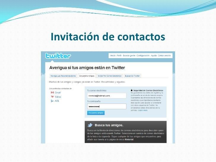 Invitación de contactos<br />