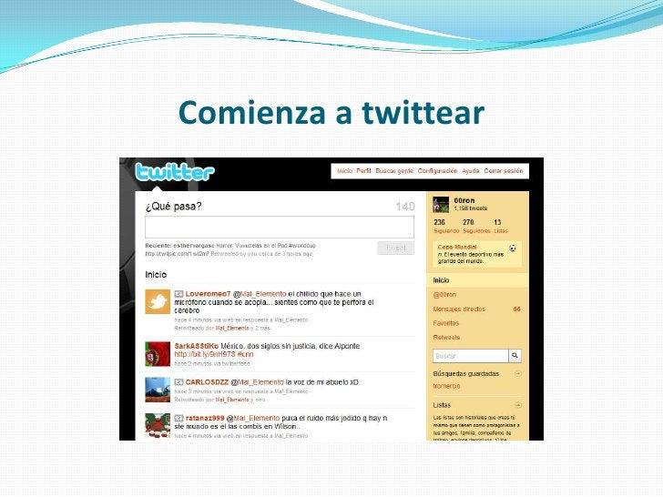 Comienza a twittear<br />