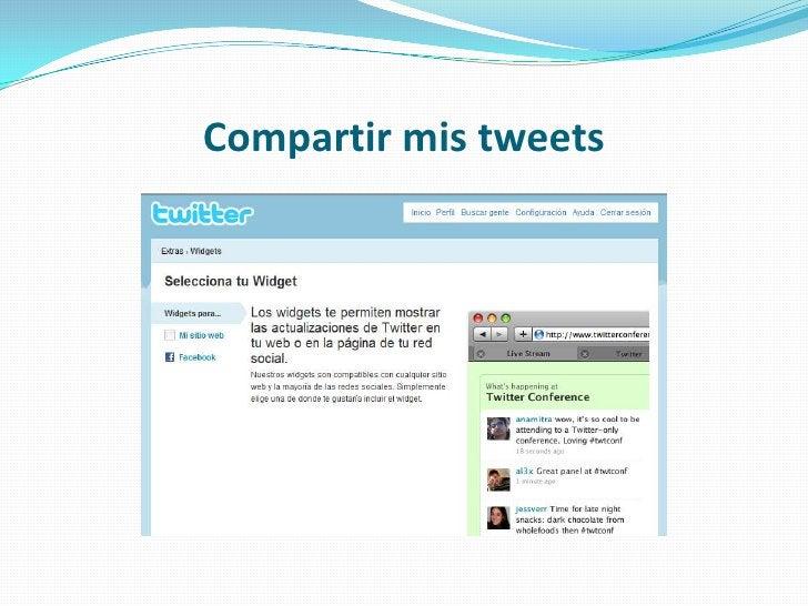 Compartir mis tweets<br />