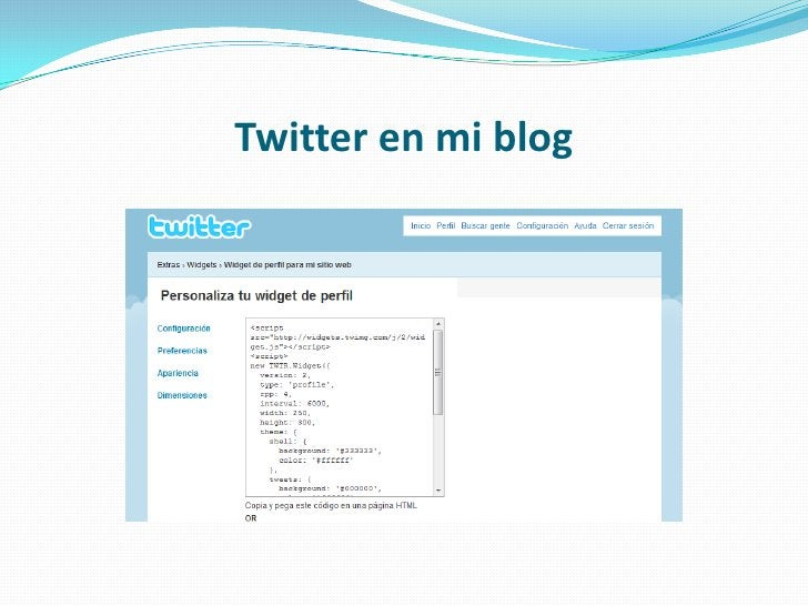 Twitter en mi blog<br />