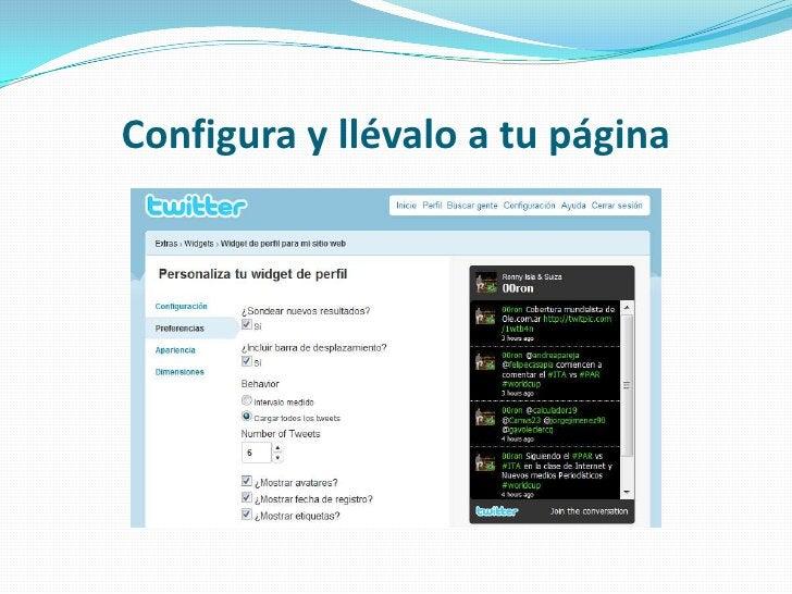 Configura y llévalo a tu página<br />