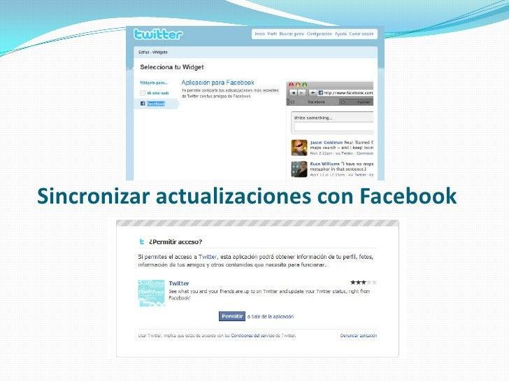 Sincronizar actualizaciones con Facebook<br />