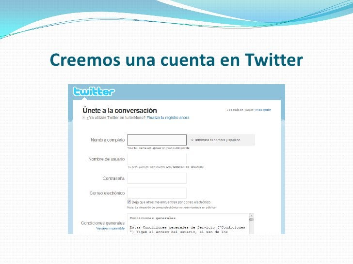 Creemos una cuenta en Twitter<br />