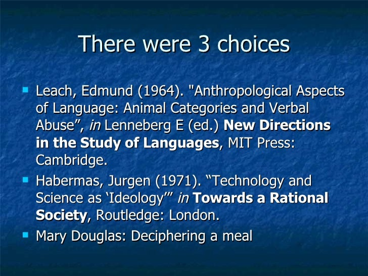 mary douglas implicit meanings essays in anthropology Mary douglas neo-durkheimian institutional theory institutions social   douglas m, 1999a [1975] implicit meanings: selected essays in anthropology,  2nd.