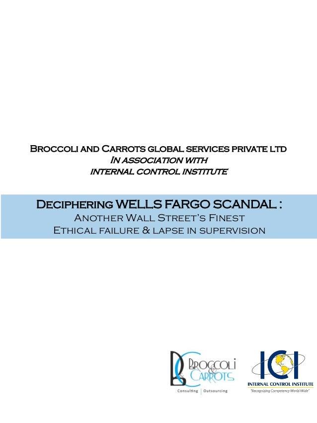 Deciphering Wells Fargo Scandal