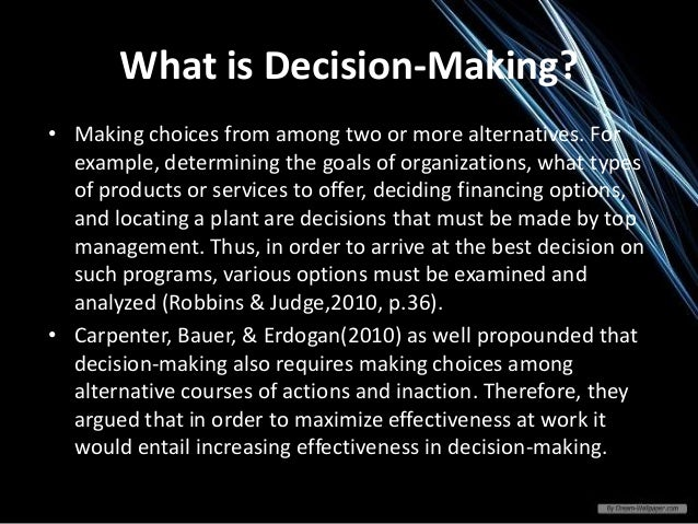 what management organization and technology factors should be considered when making this decision