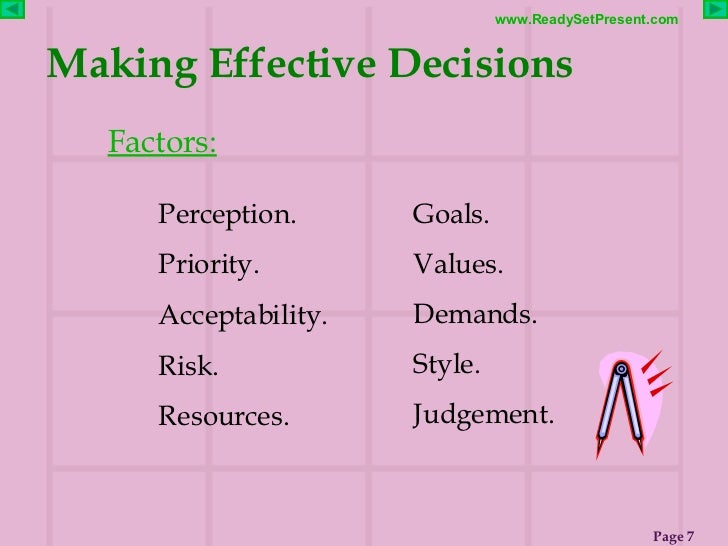 DECISION MAKING POWERPOINT