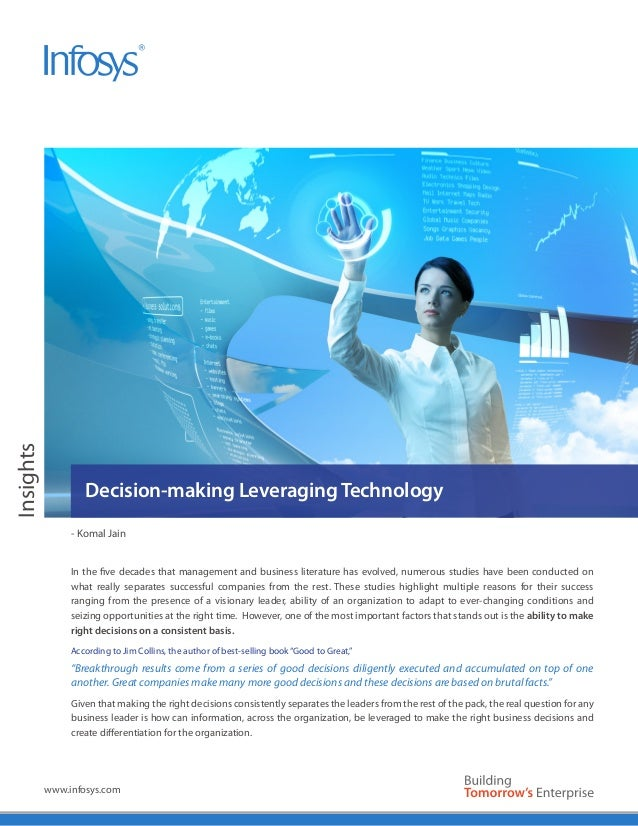 Insights                   Decision-making Leveraging Technology                - Komal Jain                In the five de...