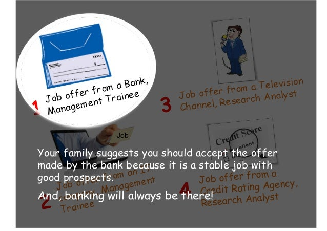 Job offer from a Credit Rating Agency, Research Analyst4 Job Your family suggests you should accept the offer made by the ...