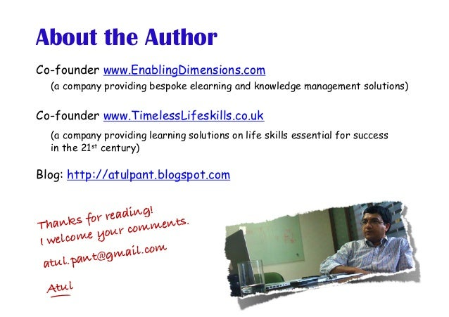 Co-founder www.EnablingDimensions.com (a company providing bespoke elearning and knowledge management solutions) Co-founde...