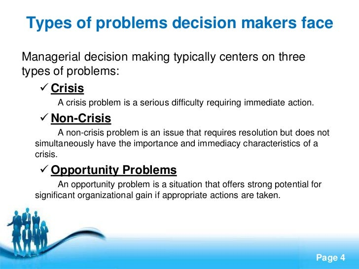 4 types of decision makers