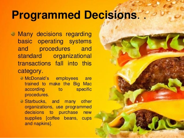 decision making mcdonald