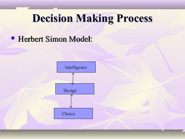 herbert a simon a decision making perspective
