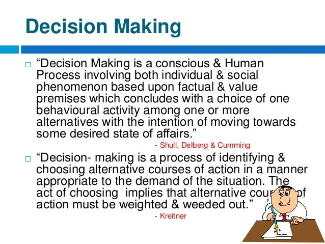 factors that affect decision making on If you're making a big decision, think through your options logically with these factors in mind.