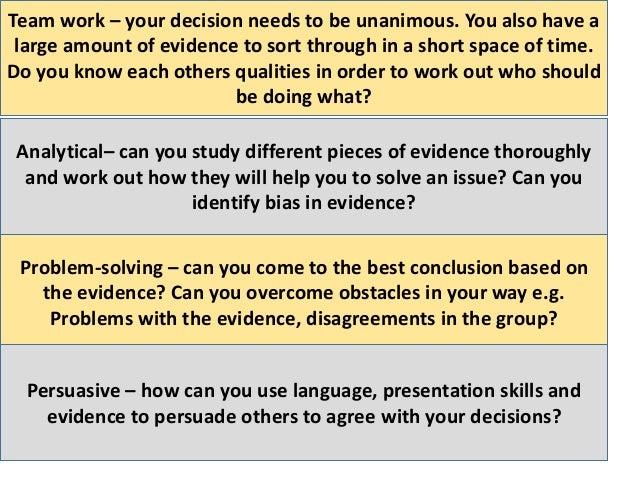 Anna Forshaw's #TMRGS presentation on decision making