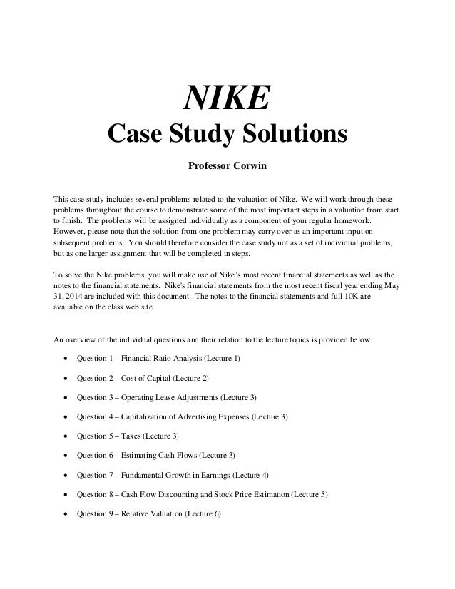 nike studying problems which facing In nike's case, the issues are march 18, 2018, from (studying the problems which it is facing.