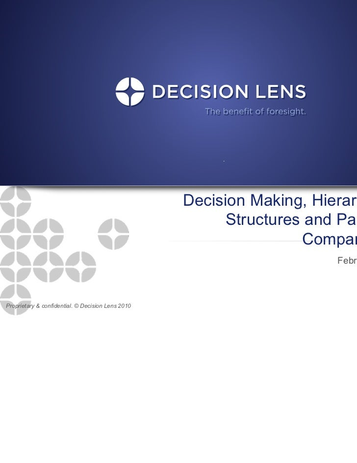 Decision Making, Hierarchical                                                         Structures and Pairwise             ...