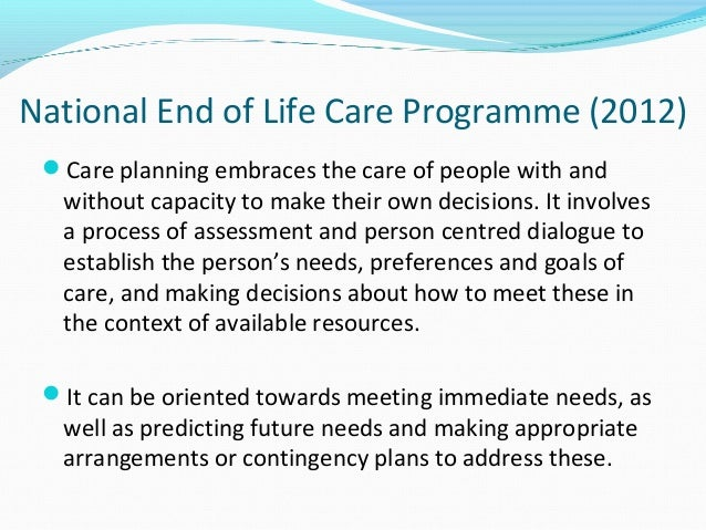 end of life decisions Ministers often find themselves called on to provide guidance at this crucial time to both patients and their families who are seeking the will of god in the particular end-of-life situation that is facing them.