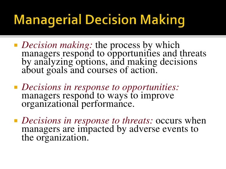 managerial decision making Contribution margin is one of the most important concepts in managerial  accounting it is used extensively in planning and decision making because it is  much.