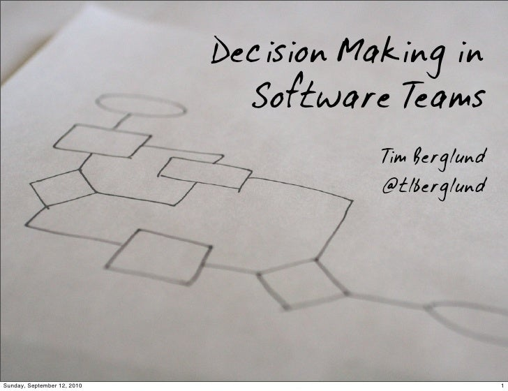 Decision Making in Software Teams
