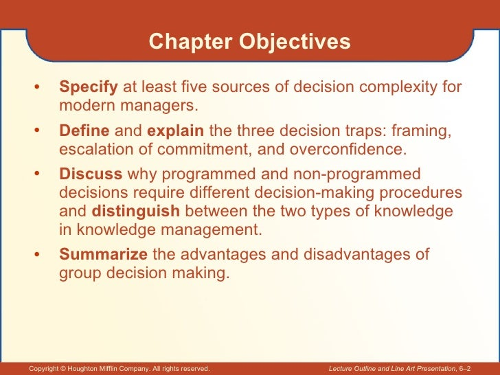 optimal decision making problem Also see the library's blogs related to problem solving and decision making in addition to the articles on this current page, also see the following blogs that have.